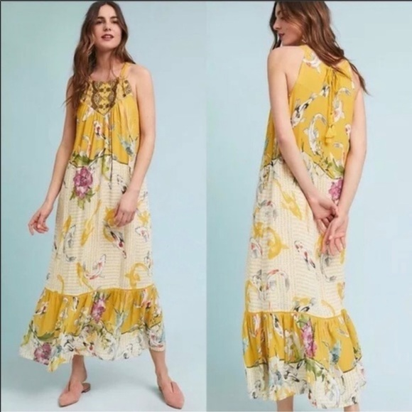 Anthropologie Dresses & Skirts - Anthro One September Fish Floral Paradiso Maxi XL